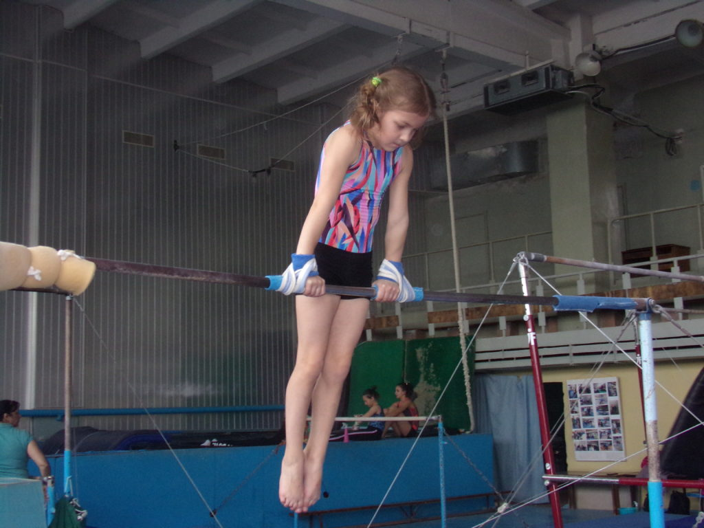Ljubka Mudrakova, 9, sportovní gymnastka, Doněck, DLR