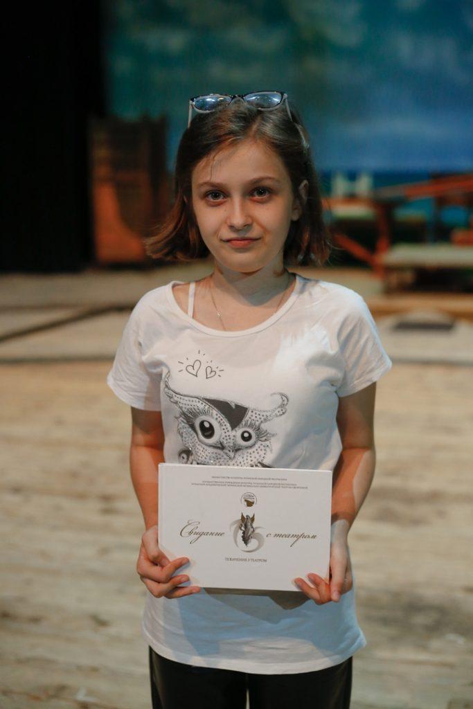 Kaťa Ščerba,14, spisovatelka, dramatička, Alčevsk, LLR