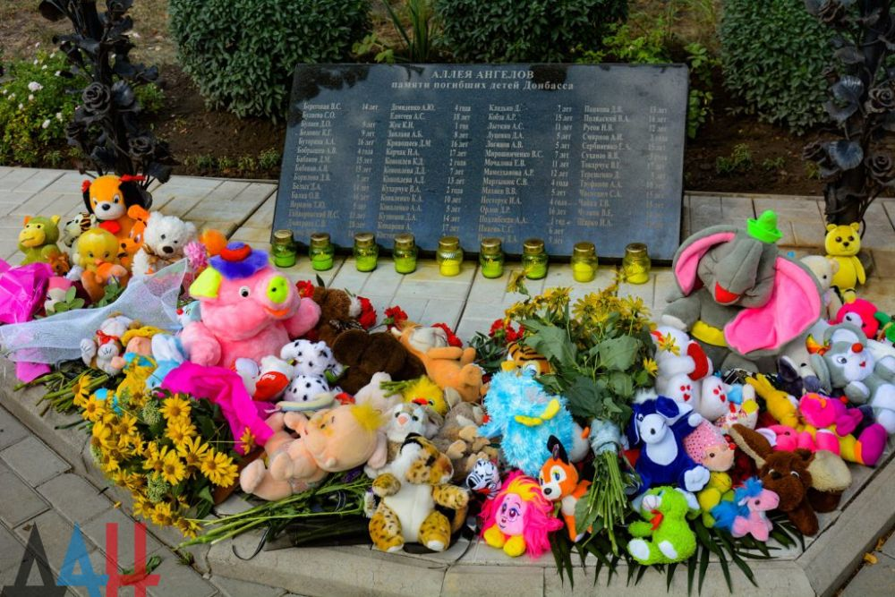 Alej Andělů, památník zabitým dětem, Doněck, DLR