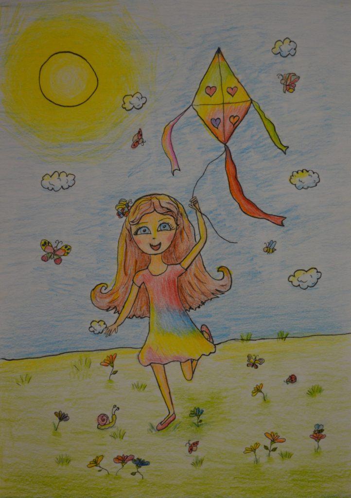 Kresba na výstavu Děti kreslí mír, 2017-2018